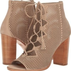 FRYE Lace Up Perf Booties Gabby Ghillie NEW NIB
